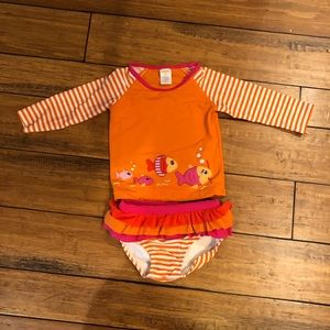 Girls Gymboree Rash Guard and Bottoms Swimsuit